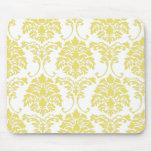 PixDezines Florentius Damask/lemon zest Mouse Pads