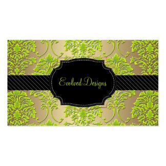 PixDezines florentius damask/peridot green Business Card Templates