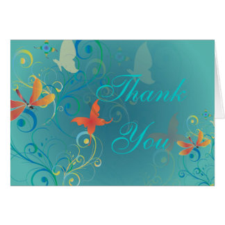 PixDezines Fluttering By2, Thank You cards