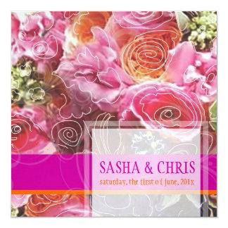 PixDezines Funky Floral/Sorbet Custom Invites