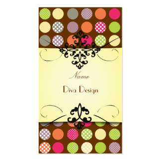 PixDezines Funky Polka dots  DIY background color! Double-Sided Standard Business Cards (Pack Of 100)