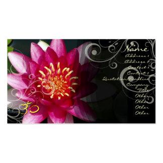 PixDezines Fuschia lotus + pearly swirls Business Cards