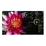 PixDezines Fuschia lotus + pearly swirls Double-Sided Standard Business Cards (Pack Of 100)