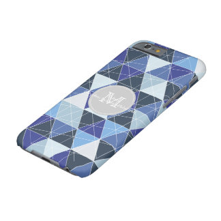 PixDezines geometric/blue hyde Barely There iPhone 6 Case
