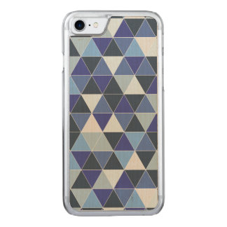 PixDezines geometric/blue hyde Carved iPhone 8/7 Case