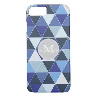 PixDezines geometric/blue hyde iPhone 8/7 Case