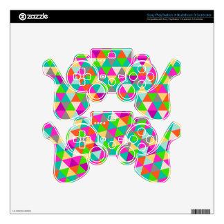PixDezines geometric/neon colors PS3 Controller Skins
