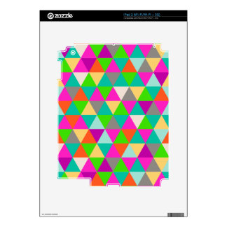PixDezines geometric/neon colors Skins For iPad 2