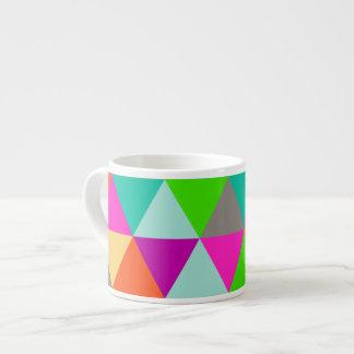 PixDezines geometric/neon/magenta Espresso Cup
