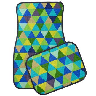 PixDezines geometric pattern/adjustable Floor Mat
