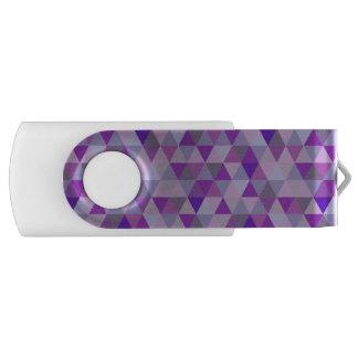 PixDezines geometric purple hyde Flash Drive