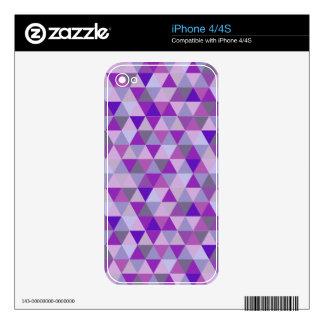 PixDezines geometric purple hyde iPhone 4 Decals