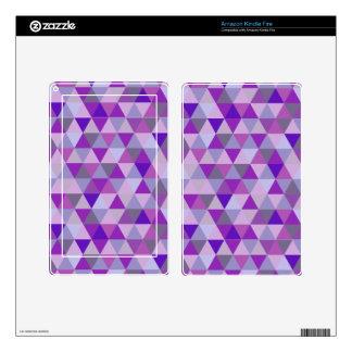 PixDezines geometric purple hyde Kindle Fire Skins