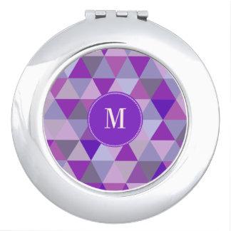 PixDezines geometric purple hyde Mirror For Makeup