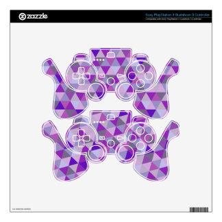 PixDezines geometric purple hyde PS3 Controller Skins