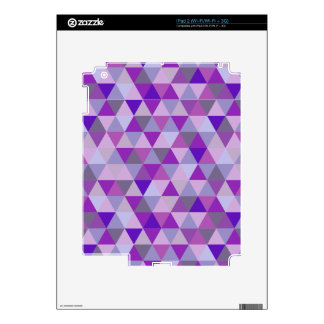 PixDezines geometric purple hyde Skin For The iPad 2