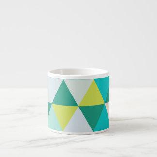 PixDezines geometric teal green Espresso Cup