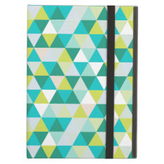 Pixdezines Geometric Teal Green Ipad Air Cover at Zazzle