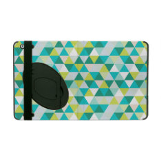 Pixdezines Geometric Teal Green Ipad Folio Case at Zazzle
