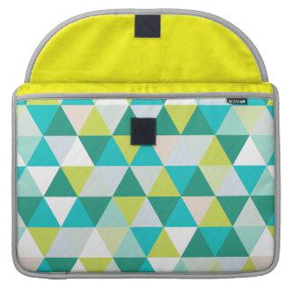 PixDezines geometric teal green MacBook Pro Sleeve