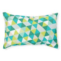 PixDezines geometric teal green Pet Bed
