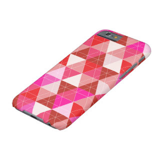 PixDezines geométrico/torta de frutas de la fresa Funda Para iPhone 6 Barely There