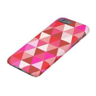 PixDezines geométrico/torta de frutas de la fresa Funda De iPhone 6 Barely There