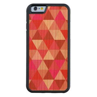 PixDezines geométrico/torta de frutas de la fresa Funda De iPhone 6 Bumper Cerezo