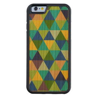PixDezines geométrico/verde/azul/trullo Funda De iPhone 6 Bumper Cerezo