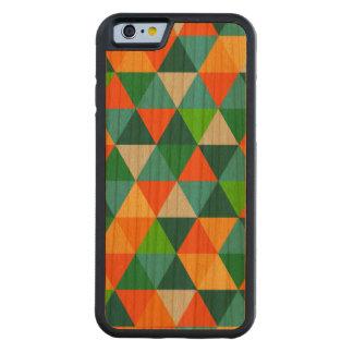 PixDezines geométrico/verde/naranja/trullo Funda De iPhone 6 Bumper Cerezo