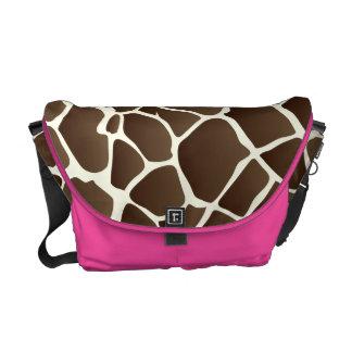 PixDezines giraffe/DIY background Messenger Bag