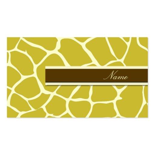 PixDezines Giraffe Print, Dijon Mustard Double-Sided Standard Business Cards (Pack Of 100)