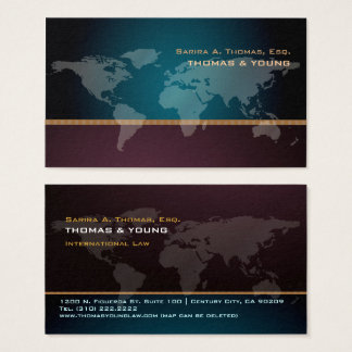 PixDezines Going Global, world map Business Card