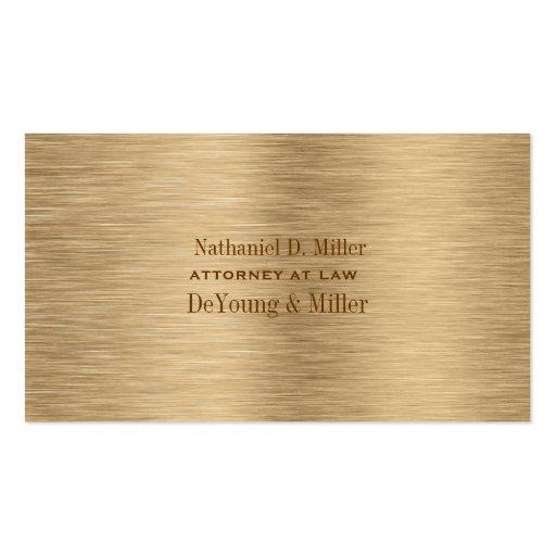 PixDezines gold tone brushed steel/DIY fonts+color Business Card Templates