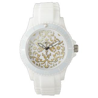 PixDezines gold tone damask/diy background Watch