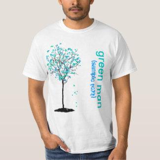 PixDezines Green man, blue maple T-Shirt