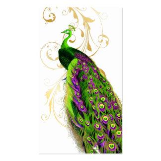 PixDezines green peacock+filigree diy fonts Business Card Template