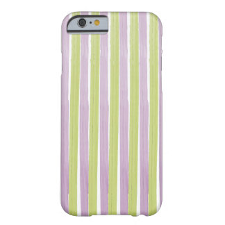 PixDezines green/purple stripes/watercolor affect Barely There iPhone 6 Case