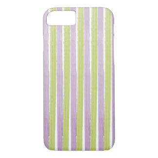 PixDezines green/purple stripes/watercolor affect iPhone 7 Case