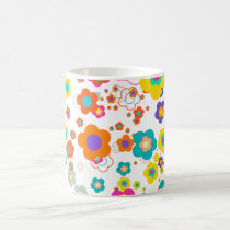 PixDezines groovy daisies/diy background color Coffee Mug
