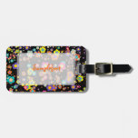 PixDezines groovy daisies/diy background color Travel Bag Tags
