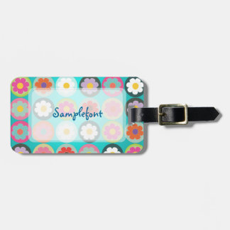 PixDezines groovy daisies/diy background color Tag For Luggage