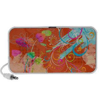 PixDezines Grunge Floral iPhone Speaker