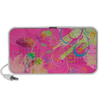 PixDezines Grunge Floral iPod Speaker