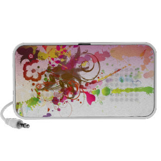 PixDezines Grunge Floral ♥♥♥♥ Notebook Speakers