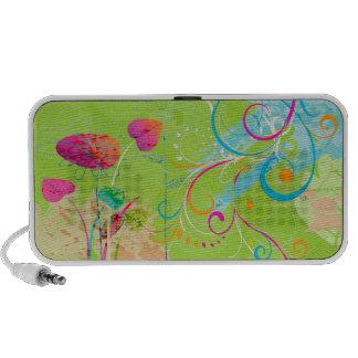 PixDezines Grunge Floral Mp3 Speaker