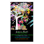 PixDezines Grunge Tree/DIY background color Double-Sided Standard Business Cards (Pack Of 100)