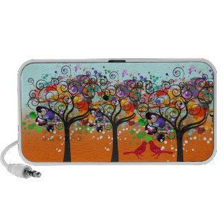 PixDezines Grunge Trees ♥♥♥♥ Mini Speakers