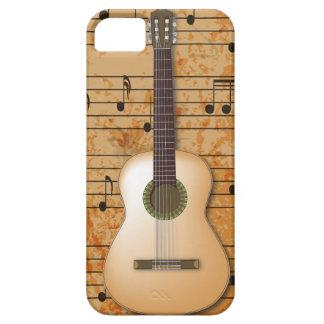 PixDezines Guitar+Vintage Sheet Music iPhone SE/5/5s Case
