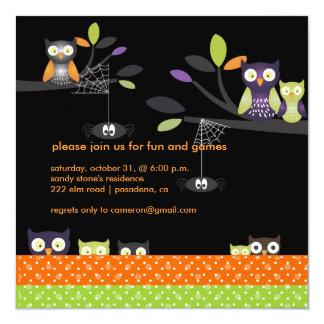 "PixDezines Halloween, Trick or Treat 5.25"" Square Invitation Card"